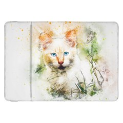 Cat Animal Art Abstract Watercolor Samsung Galaxy Tab 8 9  P7300 Flip Case