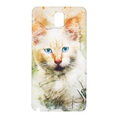Cat Animal Art Abstract Watercolor Samsung Galaxy Note 3 N9005 Hardshell Back Case
