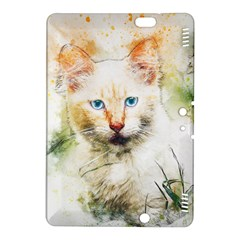 Cat Animal Art Abstract Watercolor Kindle Fire Hdx 8 9  Hardshell Case