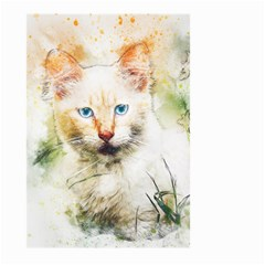 Cat Animal Art Abstract Watercolor Large Garden Flag (two Sides)