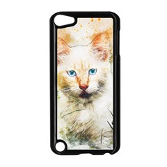 Cat Animal Art Abstract Watercolor Apple Ipod Touch 5 Case (black)