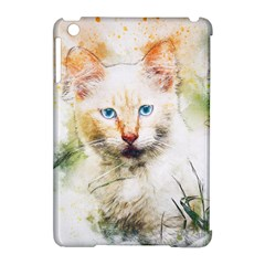 Cat Animal Art Abstract Watercolor Apple Ipad Mini Hardshell Case (compatible With Smart Cover)