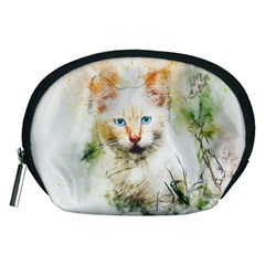 Cat Animal Art Abstract Watercolor Accessory Pouches (medium)