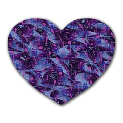 Techno Grunge Punk Heart Mousepads