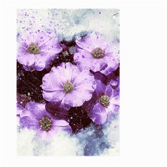 Flowers Purple Nature Art Abstract Large Garden Flag (two Sides)