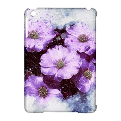 Flowers Purple Nature Art Abstract Apple Ipad Mini Hardshell Case (compatible With Smart Cover)