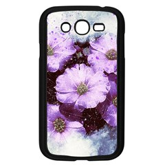 Flowers Purple Nature Art Abstract Samsung Galaxy Grand Duos I9082 Case (black)