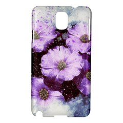 Flowers Purple Nature Art Abstract Samsung Galaxy Note 3 N9005 Hardshell Case