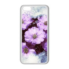 Flowers Purple Nature Art Abstract Apple Iphone 5c Seamless Case (white)