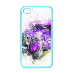 Car Old Car Art Abstract Apple Iphone 4 Case (color)