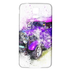 Car Old Car Art Abstract Samsung Galaxy S5 Back Case (white)