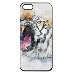 Tiger Roar Animal Art Abstract Apple Iphone 5 Seamless Case (black)