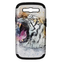 Tiger Roar Animal Art Abstract Samsung Galaxy S Iii Hardshell Case (pc+silicone)