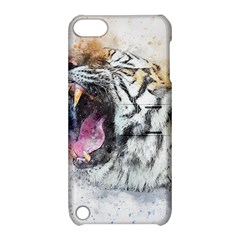 Tiger Roar Animal Art Abstract Apple Ipod Touch 5 Hardshell Case With Stand