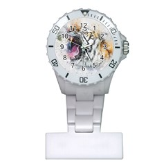 Tiger Roar Animal Art Abstract Plastic Nurses Watch