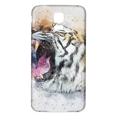 Tiger Roar Animal Art Abstract Samsung Galaxy S5 Back Case (white)