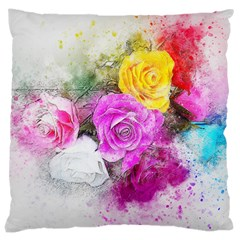Flowers Bouquet Art Abstract Large Cushion Case (one Side)