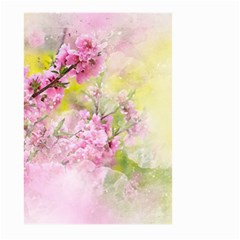 Flowers Pink Art Abstract Nature Large Garden Flag (two Sides)