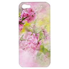 Flowers Pink Art Abstract Nature Apple Iphone 5 Hardshell Case