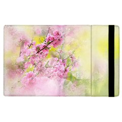 Flowers Pink Art Abstract Nature Apple Ipad 2 Flip Case