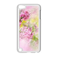 Flowers Pink Art Abstract Nature Apple Ipod Touch 5 Case (white)