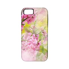 Flowers Pink Art Abstract Nature Apple Iphone 5 Classic Hardshell Case (pc+silicone)