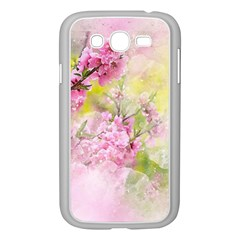 Flowers Pink Art Abstract Nature Samsung Galaxy Grand Duos I9082 Case (white)