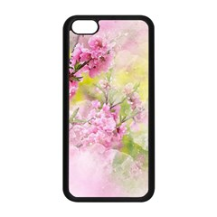 Flowers Pink Art Abstract Nature Apple Iphone 5c Seamless Case (black)
