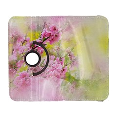Flowers Pink Art Abstract Nature Galaxy S3 (flip/folio)