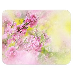 Flowers Pink Art Abstract Nature Double Sided Flano Blanket (medium)
