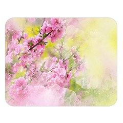 Flowers Pink Art Abstract Nature Double Sided Flano Blanket (large)
