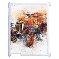 Car Old Car Art Abstract Apple Ipad 2 Case (white)