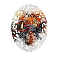 Car Old Car Art Abstract Ornament (oval Filigree)