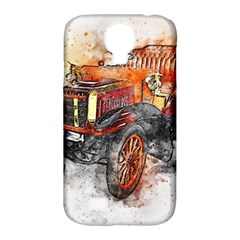 Car Old Car Art Abstract Samsung Galaxy S4 Classic Hardshell Case (pc+silicone)