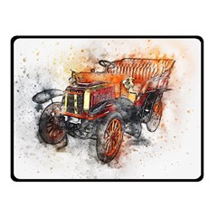 Car Old Car Art Abstract Double Sided Fleece Blanket (small)