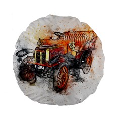 Car Old Car Art Abstract Standard 15  Premium Flano Round Cushions