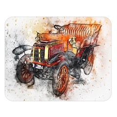 Car Old Car Art Abstract Double Sided Flano Blanket (large)
