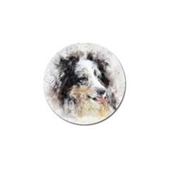 Dog Shetland Pet Art Abstract Golf Ball Marker (4 Pack)