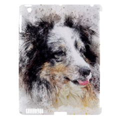 Dog Shetland Pet Art Abstract Apple Ipad 3/4 Hardshell Case (compatible With Smart Cover)