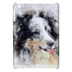 Dog Shetland Pet Art Abstract Apple Ipad Mini Hardshell Case