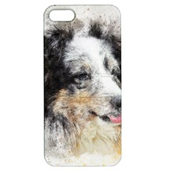 Dog Shetland Pet Art Abstract Apple Iphone 5 Hardshell Case With Stand