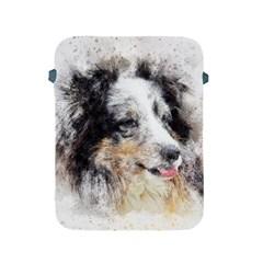 Dog Shetland Pet Art Abstract Apple Ipad 2/3/4 Protective Soft Cases