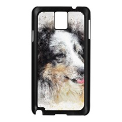 Dog Shetland Pet Art Abstract Samsung Galaxy Note 3 N9005 Case (black)
