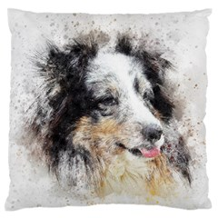 Dog Shetland Pet Art Abstract Standard Flano Cushion Case (two Sides)