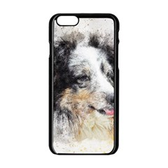 Dog Shetland Pet Art Abstract Apple Iphone 6/6s Black Enamel Case