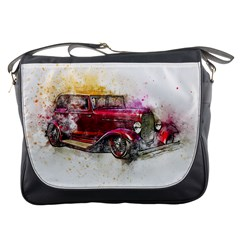 Car Old Car Art Abstract Messenger Bags