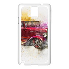 Car Old Car Art Abstract Samsung Galaxy Note 3 N9005 Case (white)