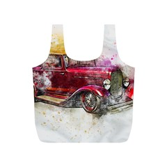 Car Old Car Art Abstract Full Print Recycle Bags (s)