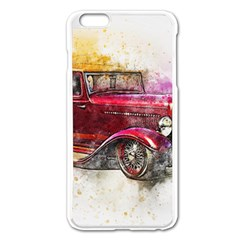 Car Old Car Art Abstract Apple Iphone 6 Plus/6s Plus Enamel White Case