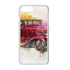 Car Old Car Art Abstract Apple Iphone 8 Plus Seamless Case (white)